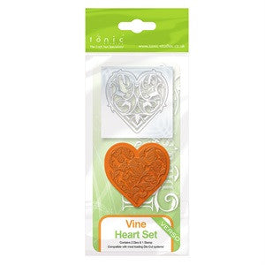 Vine Heart Set Verso Die and Stamp Set By Tonic Studios 1044e