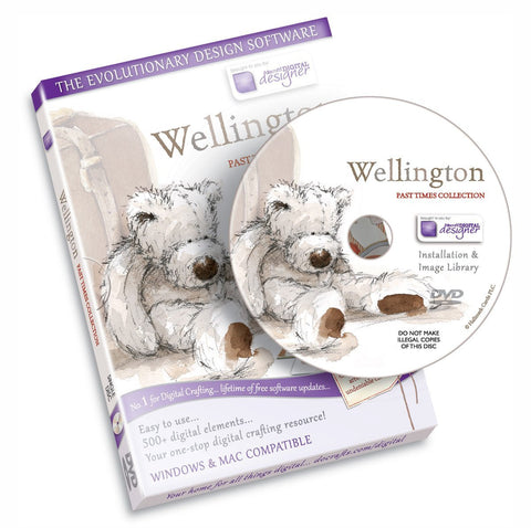 Wellington Bear Past Times Template Craft Computer Design Software CD-Rom Dvd by Docraft