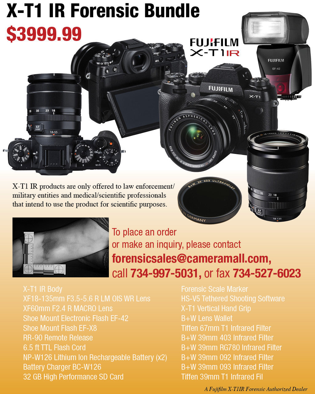 X-T1 IR Forensic Bundle
