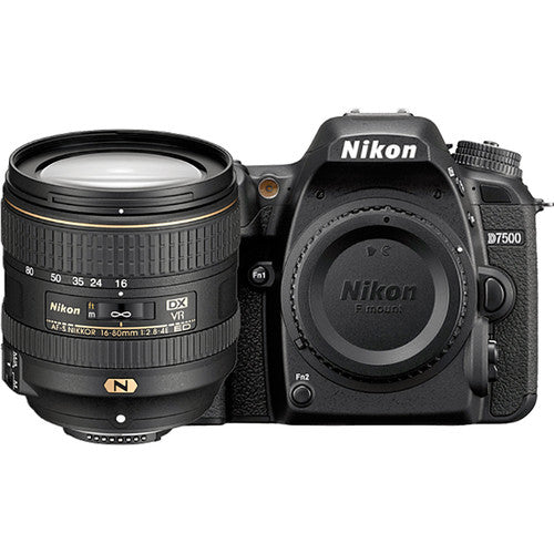 Nikon D7500 DX DSLR Camera with 16-80mm VR Lens