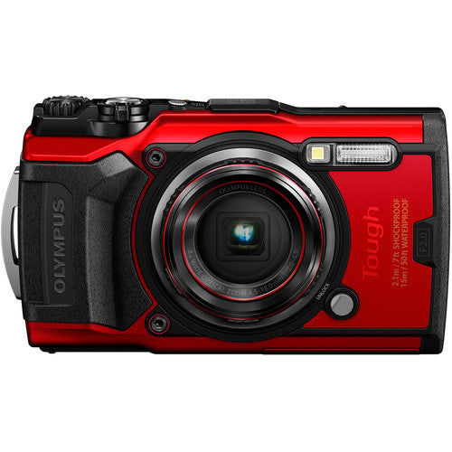 Olympus Tough TG-6 iHS [Red] Point & Shoot Camera