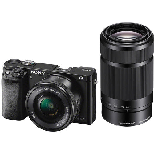 Sony Alpha a6000 Mirrorless Camera with 16-50mm and 55-210mm Lens [Black]