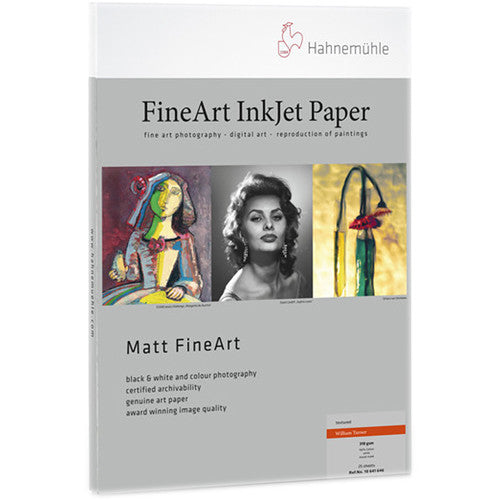 Hahnemuhle William Turner Matt Fine Art Paper - 310 gsm (8.5 x 11.0'', 25 Sheets)