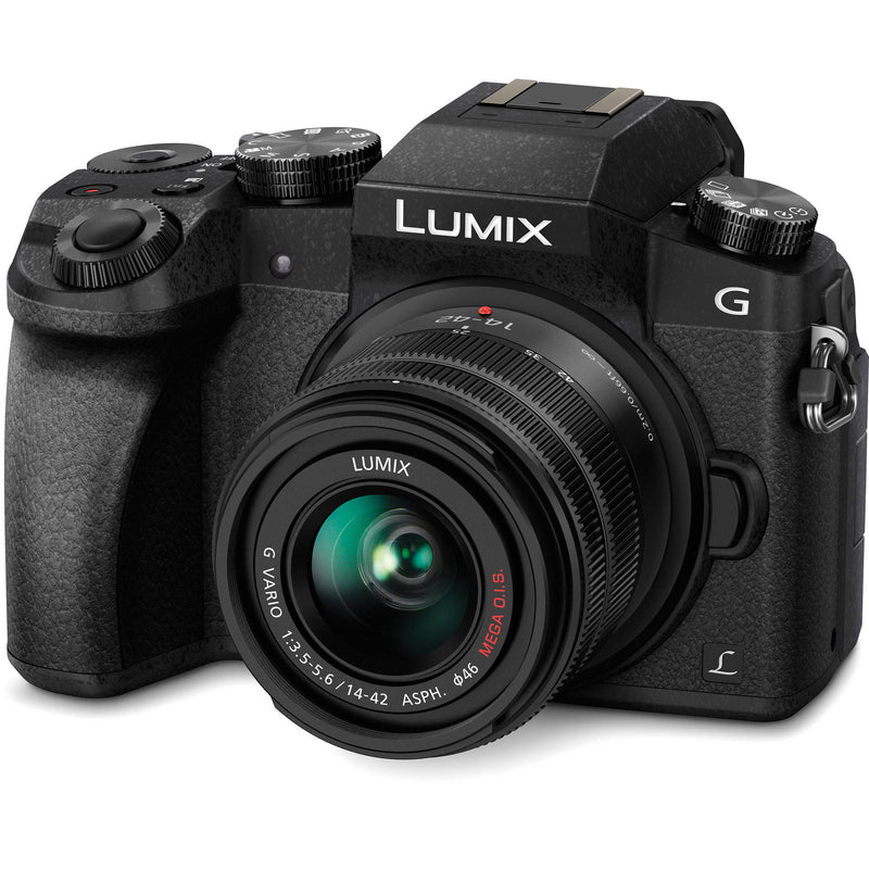 Panasonic LUMIX G7 Mirrorless Camera with 14-42mm Lens [Black]