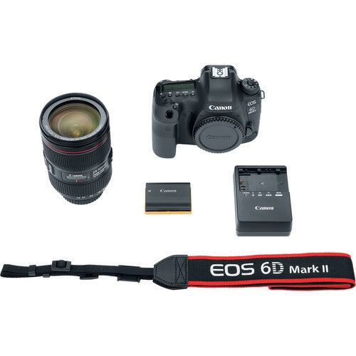 Canon EOS 6D Mark II DSLR Camera with 24–105mm F4L USM Lens