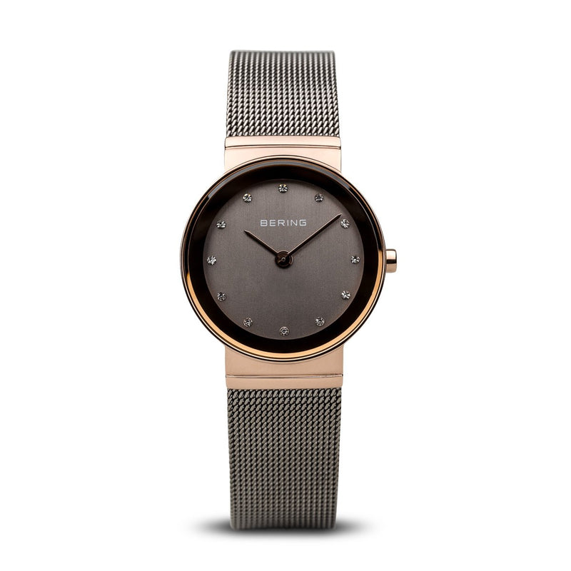 Bering Sale Polished Rose Gold Watch