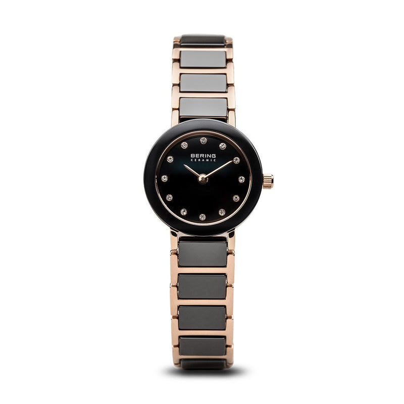 Bering Ceramic Brushed Gold Grey Watch