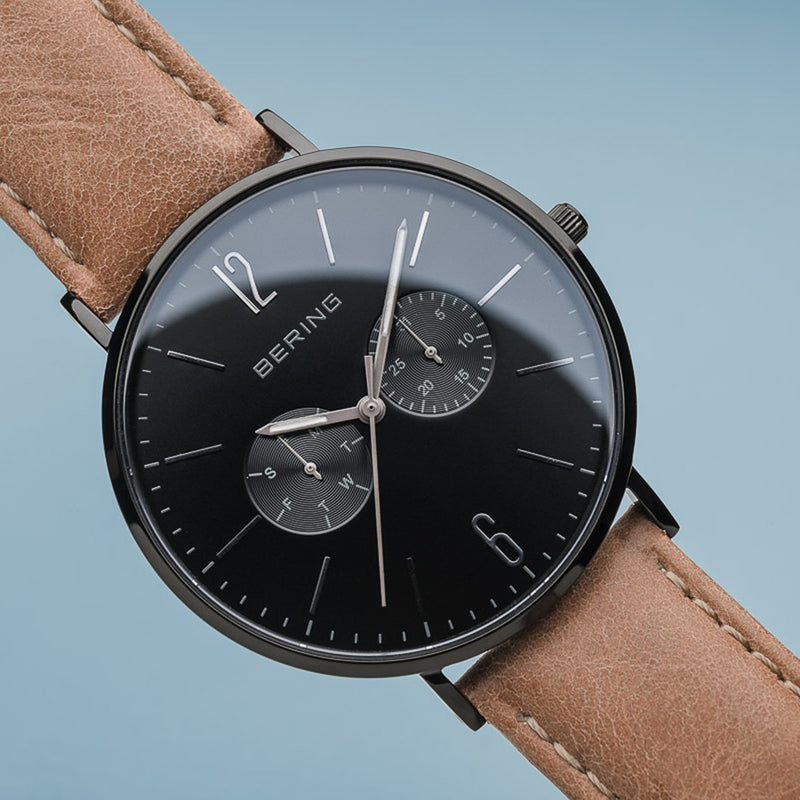 Bering Classic Polished Black Watch