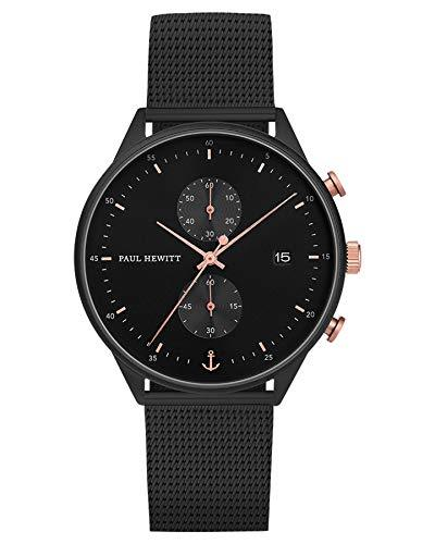 Paul Hewitt Black Sunray Mesh Watch
