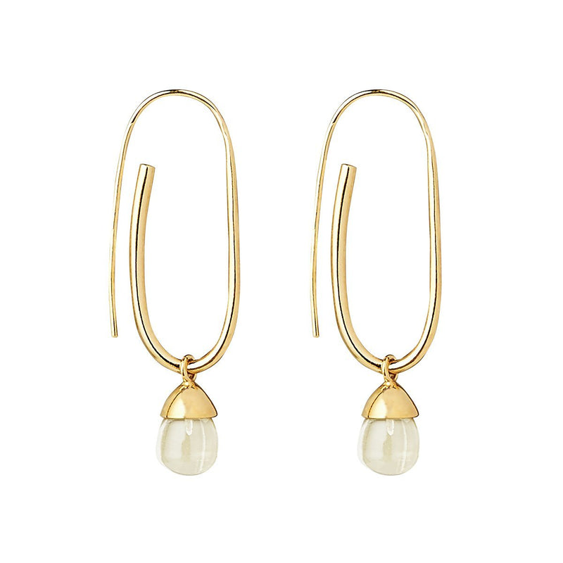 Najo Ramona Lemon Quartz Earring