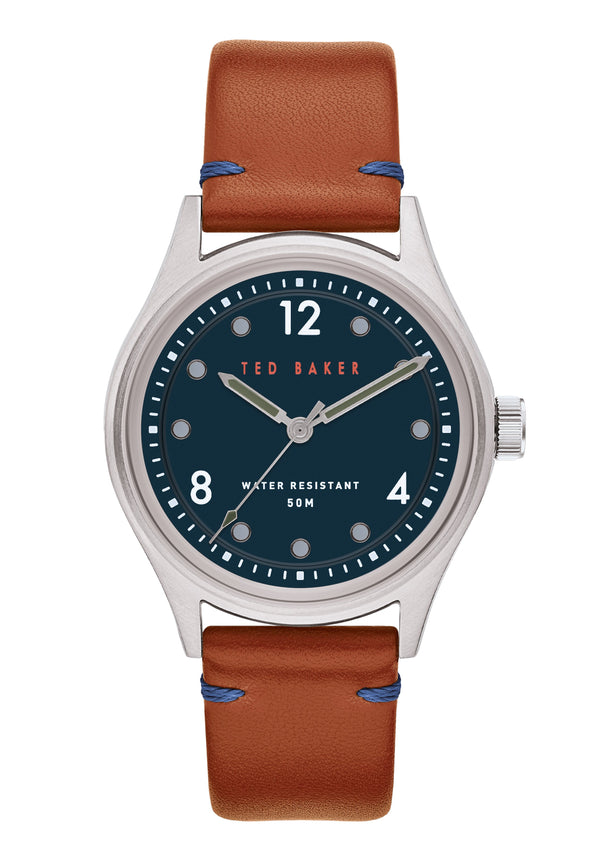 Ted Baker Beleeni Blue Dial Tan Watch