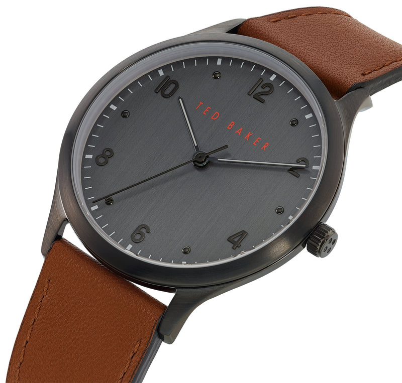Ted Baker Manhatt Black Dial Brown Watch
