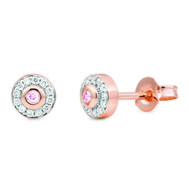 PINK CAVIAR 0.15ct Pink Diamond Earrings in 9ct Rose Gold