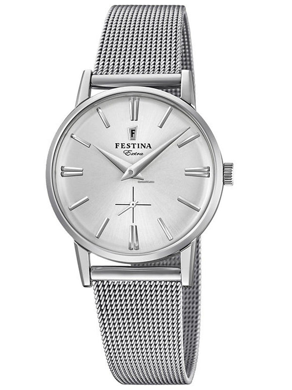 Festina Extra Silver Mesh Watch