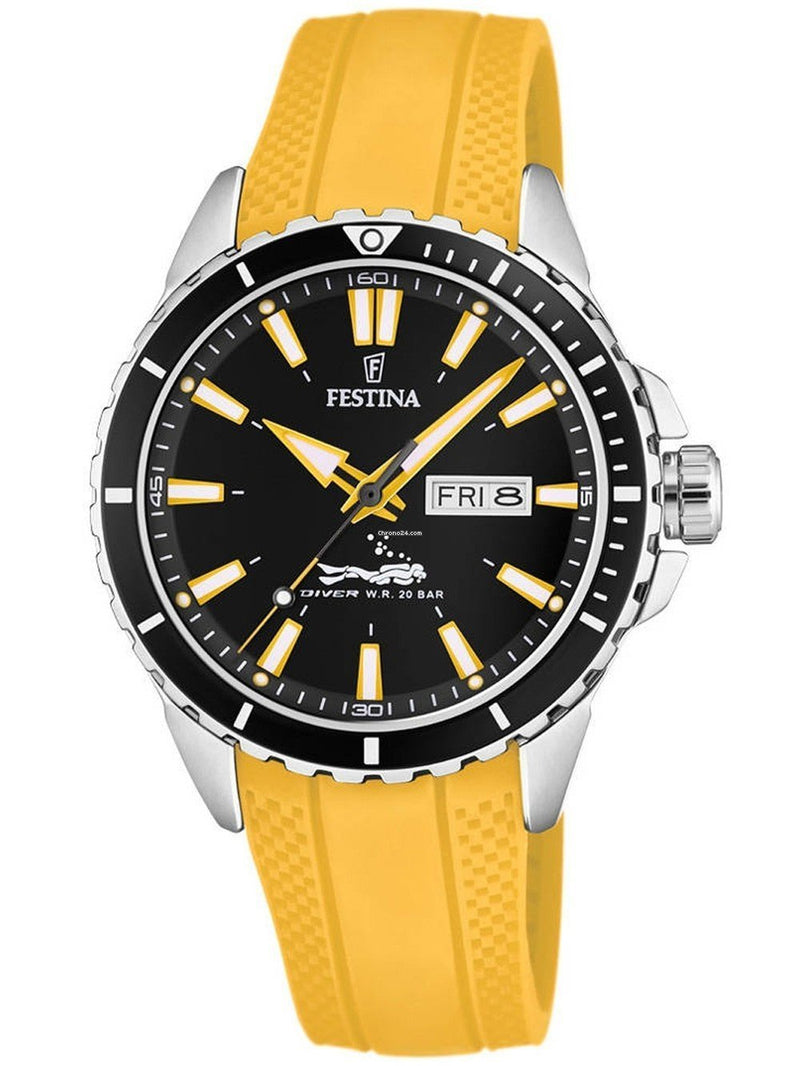 Festina Diver Yellow Watch