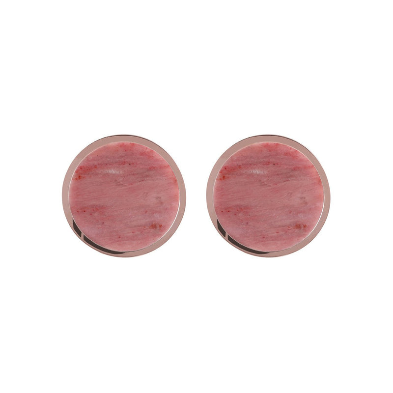 Bronzallure Gemstone Button Earrings