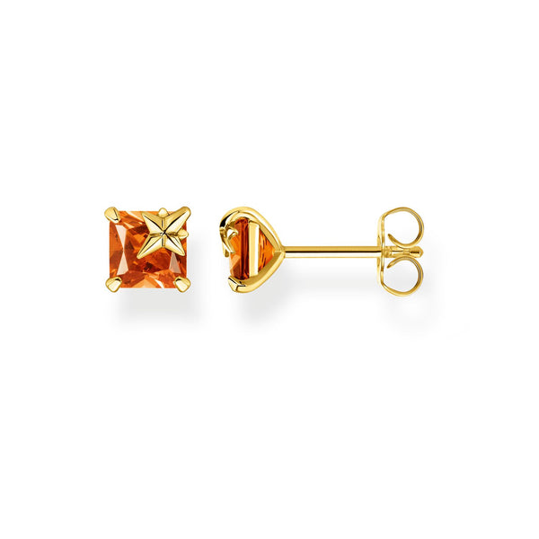 Thomas Sabo Ear Studs Orange Stone