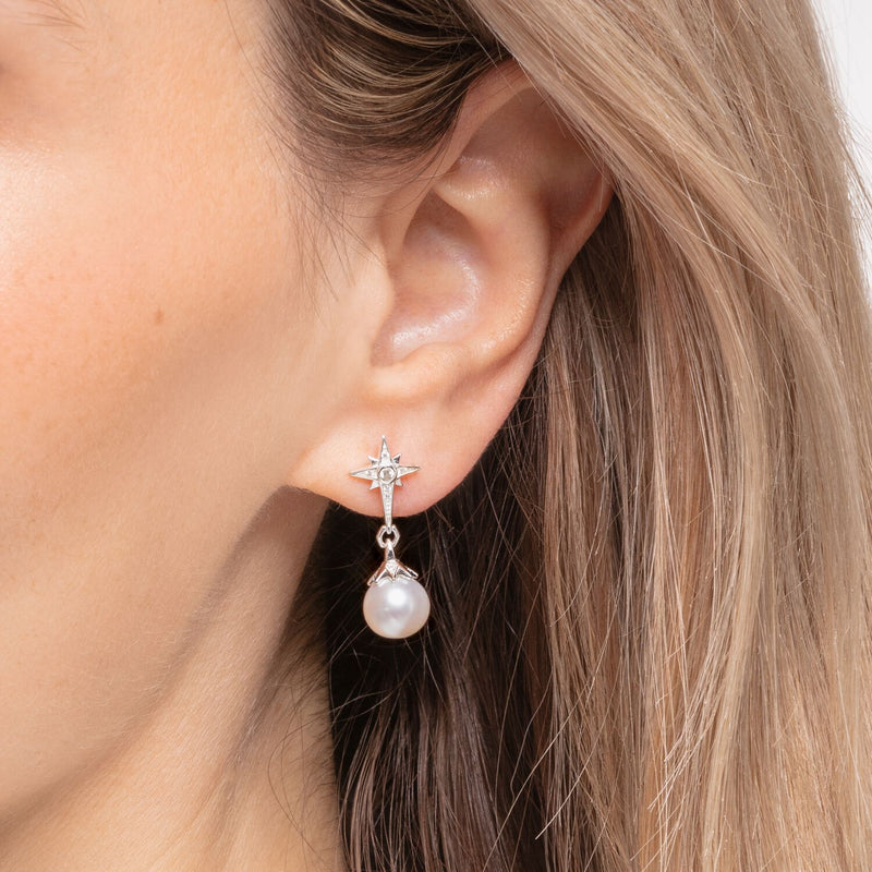 Thomas Sabo Earrings Pearl Star
