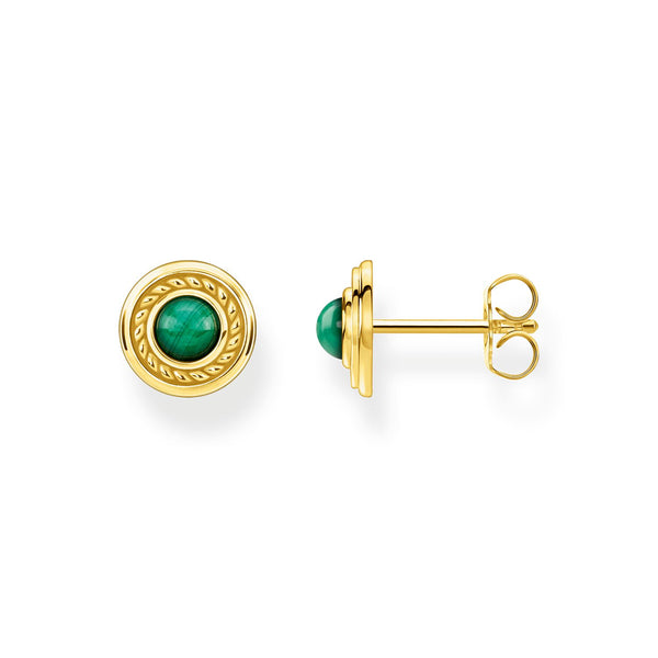 Thomas Sabo Ear Studs Green Stone