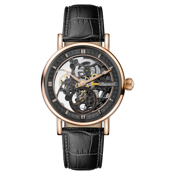 Ingersoll Herald Automatic Skeleton Black Watch