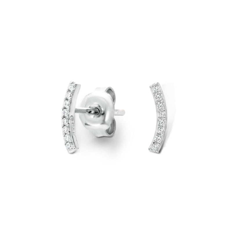 Georgini - Stella Sterling Silver Cubic Zirconia Stud Earrings