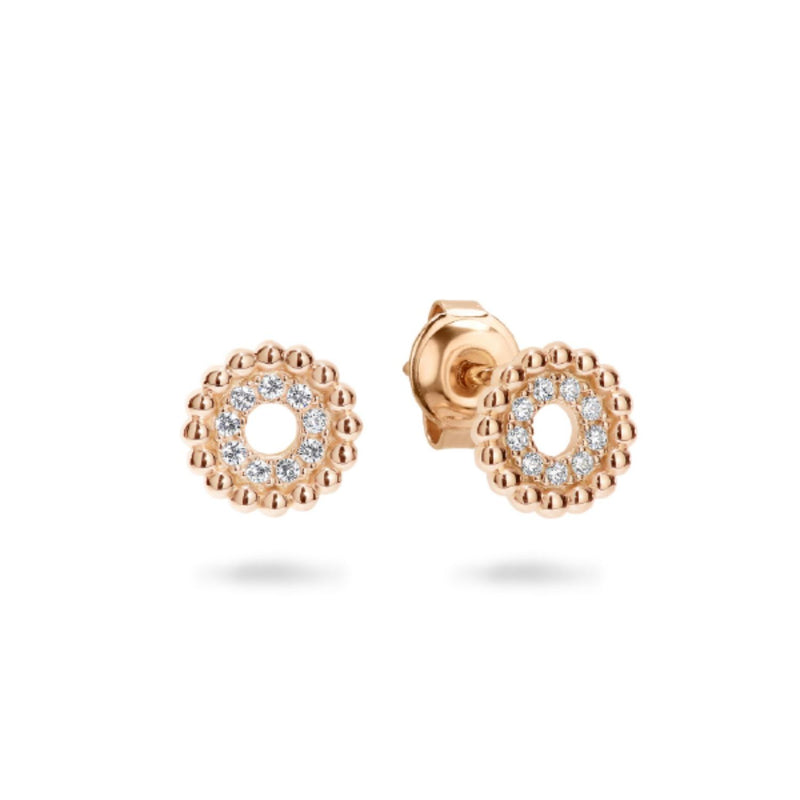 Georgini - Aries Rose Gold Plated Sterling Silver Cubic Zirconia Stud Earrings