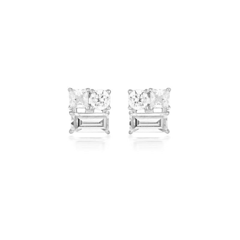 Georgini - Thea Sterling Silver Cubic Zirconia Stud Earrings