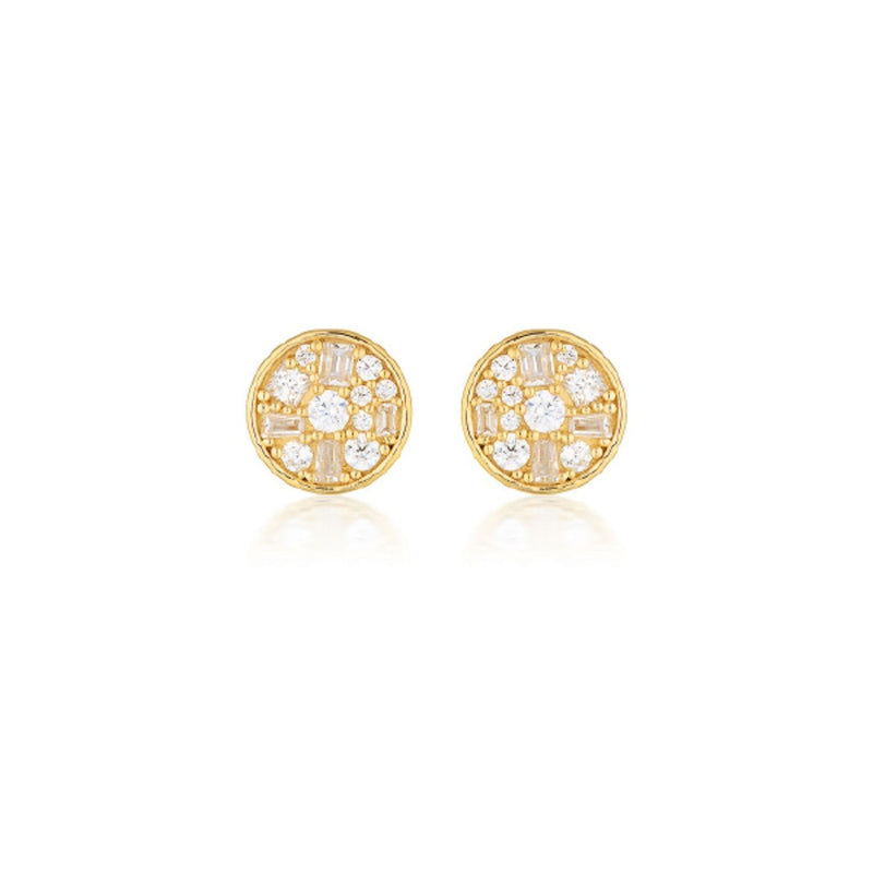 Georgini - Mini Mosaic Gold  Cubic Zirconia Stud Earrings
