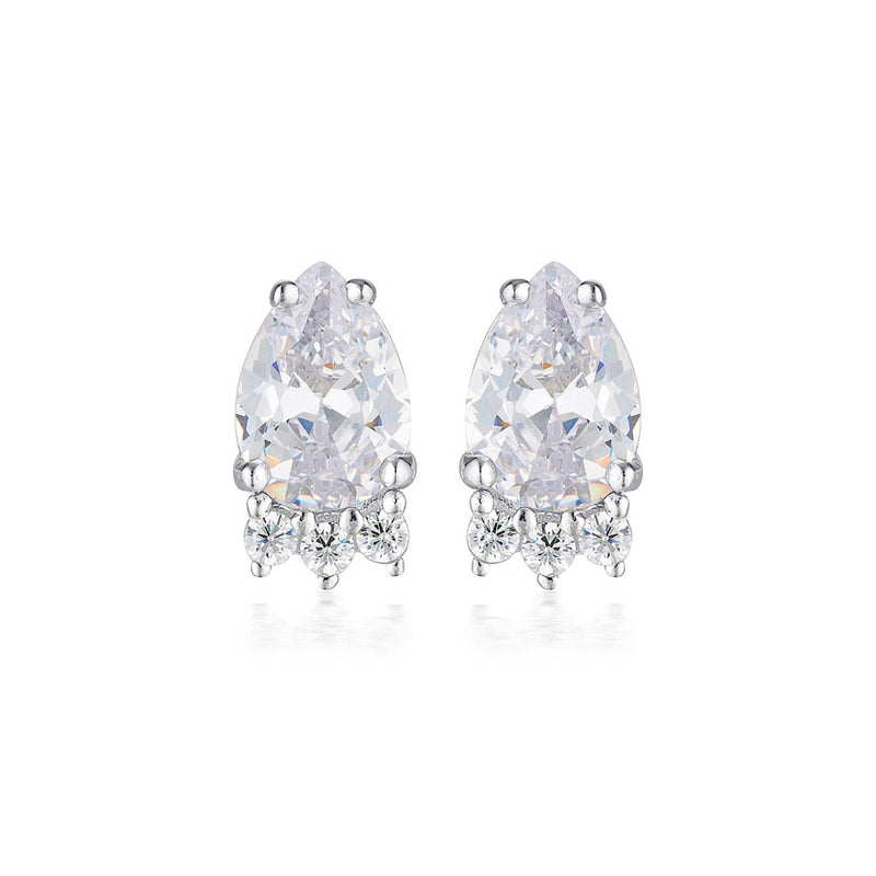 Georgini - Willow Sterling Silver Cubic Zirconia Stud Earrings