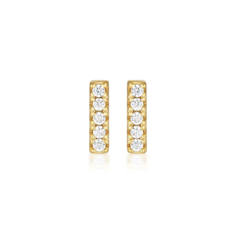 Georgini - Alina Gold Cubic Zirconia Stud Earrings