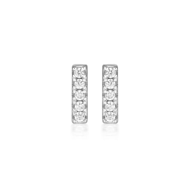 Georgini - Alina Sterling Silver Cubic Zirconia Stud Earrings
