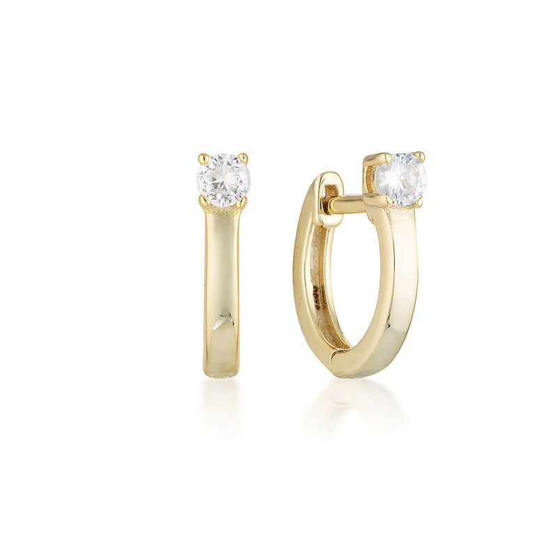 Georgini - Mia Yellow Gold Cubic Zirconia Hoop Earrings