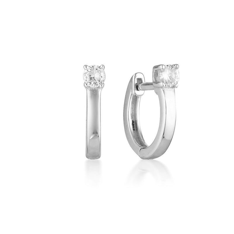 Georgini - Mia Sterling Silver Cubic Zirconia Hoop Earrings