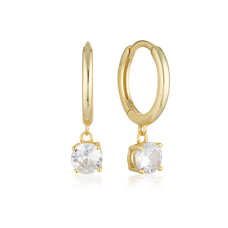 Georgini - Bria Yellow Gold Cubic Zirconia Hoop Earrings
