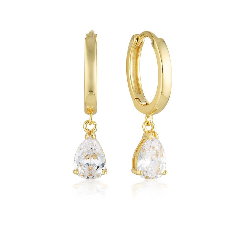 Georgini - Pia Yellow Gold Cubic Zirconia Hoop Earrings