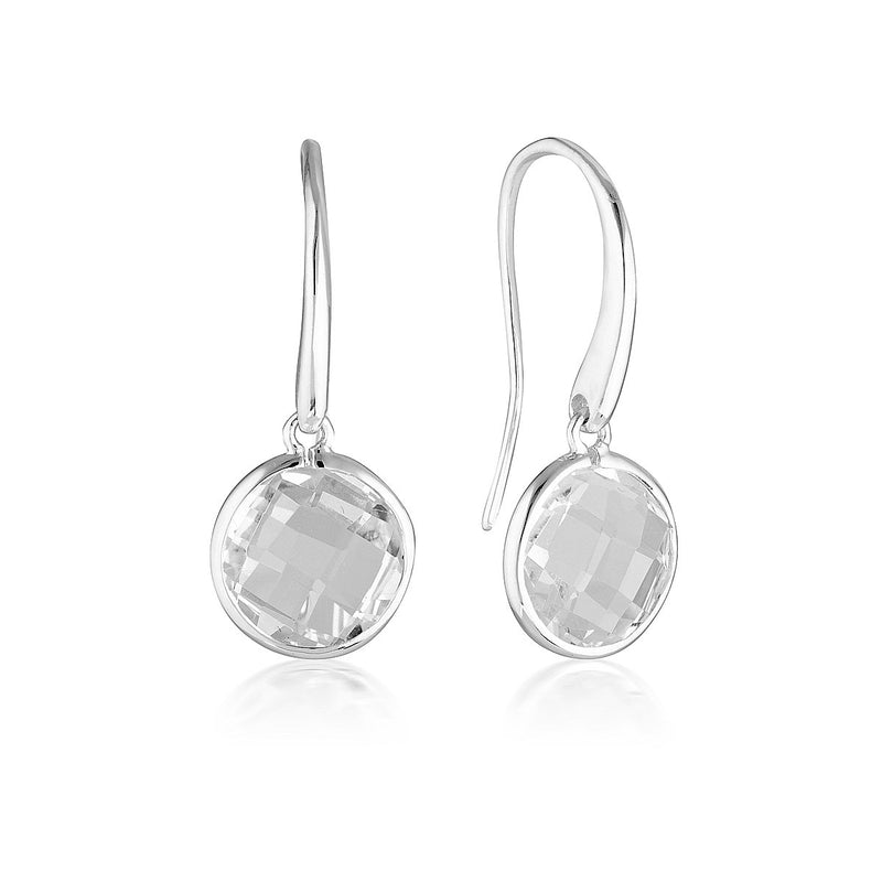 Georgini - Lucent Sterling Silver Cubic Zirconia Drop Earrings Large