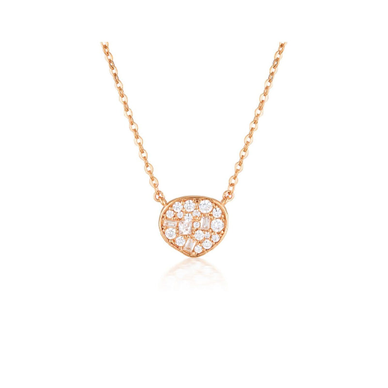 Georgini - Fili Small Mosaic Rose Gold Cubic Zirconia Necklet