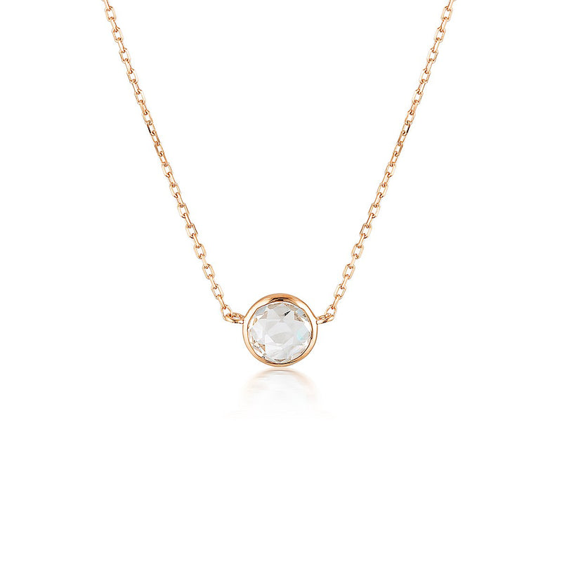 Georgini - Lucent Rose Gold White Topaz Necklet