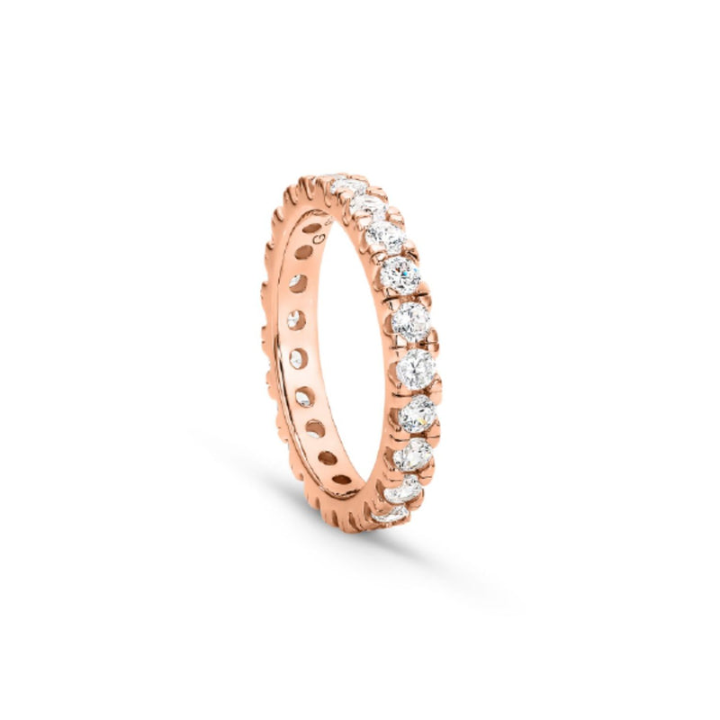 Georgini - Vienna Rose Gold 3Mm Cubic Zirconia Ring