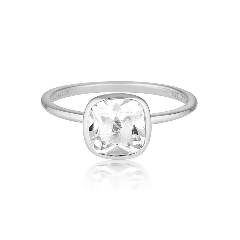 Georgini - Doros Sterling Silver White Topaz Ring