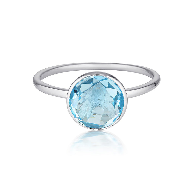 Georgini - Rodos Sterling Silver Blue Topaz Ring