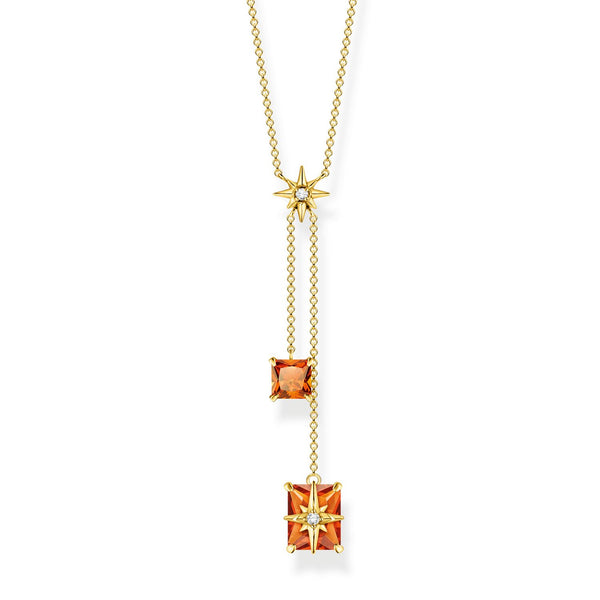 Thomas Sabo Necklace Orange Stone