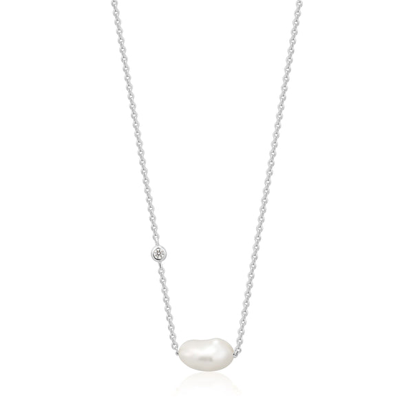 Ania Haie Pearl Necklace Silver
