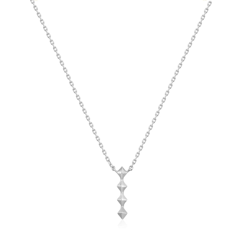 Ania Haie Silver Spike Drop Necklace