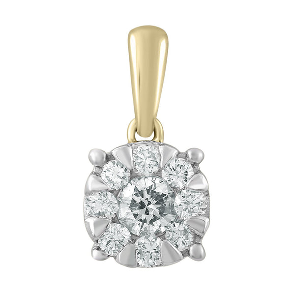 Pendant with 0.25ct Diamonds in 9K Yellow Gold