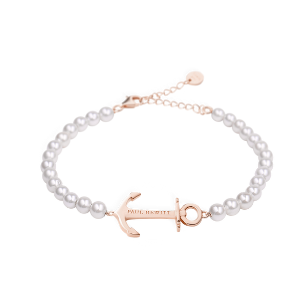 Paul Hewitt Anchor Spirit Rose Gold / Pearl Bracelet