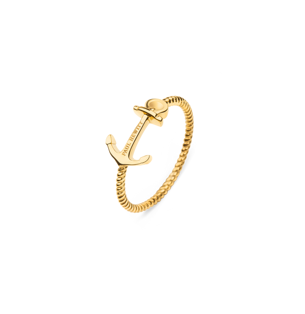 Paul Hewitt Anchor Rope Gold Ring