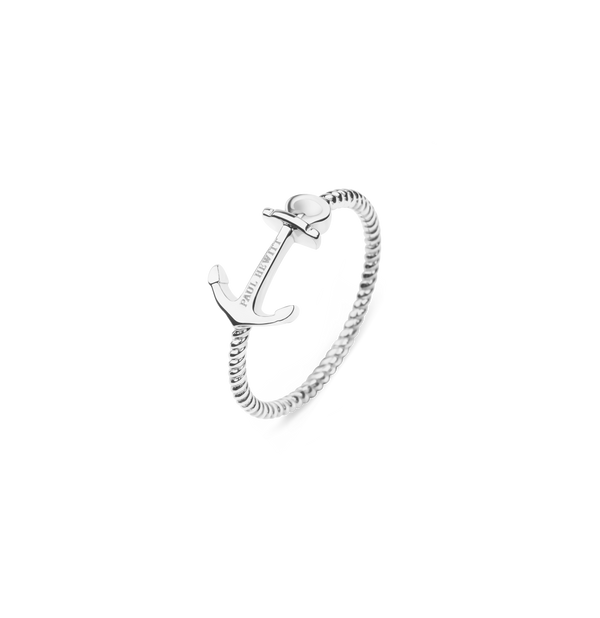 Paul Hewitt Anchor Rope Silver Ring