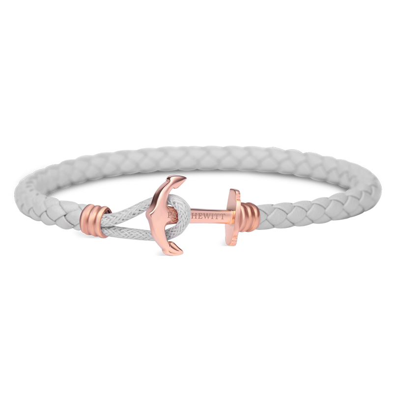Paul Hewitt Phrep Lite Leather Rose Gold / Grey Bracelet