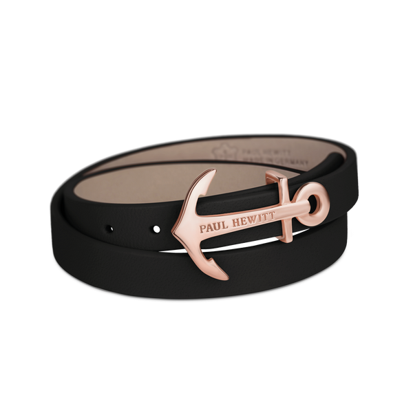 Paul Hewitt North Bound Rose Gold / Black Bracelet - S